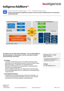 SAP Solution Manager 7.10 - Implementierung