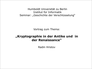 Kryptographie in der Antike und in der Renaissance