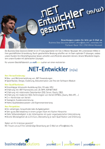 NET-Entwickler (m/w) - Business Data Solutions