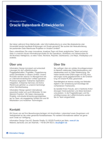 Oracle Datenbank-Entwickler/in