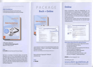 Buch + Online Online www.ebm-guidelines.at