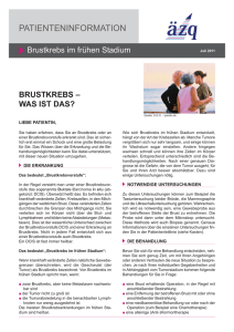 Patienteninformation Brustkrebs