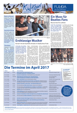 Die Termine im April 2017