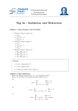 Tag 2a - Induktion und Rekursion