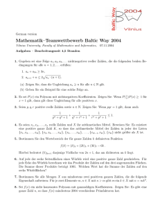 Mathematik–Teamwettbewerb Baltic Way 2004