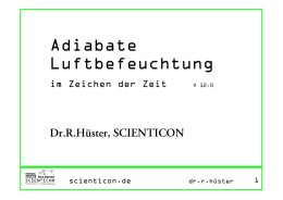 Adiabate Luftbefeuchtung