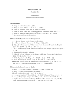 Spickzettel - Bonn Mathematics