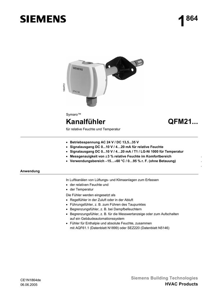 1864 Kanalfühler QFM21