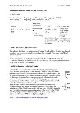 Einführung in die Biochemie Abbau von Fetten und Proteinen