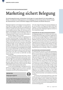 Marketing sichert Belegung