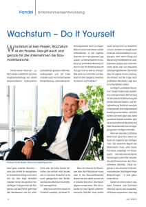 Wachstum – Do It Yourself - Mandat – Managementberatung