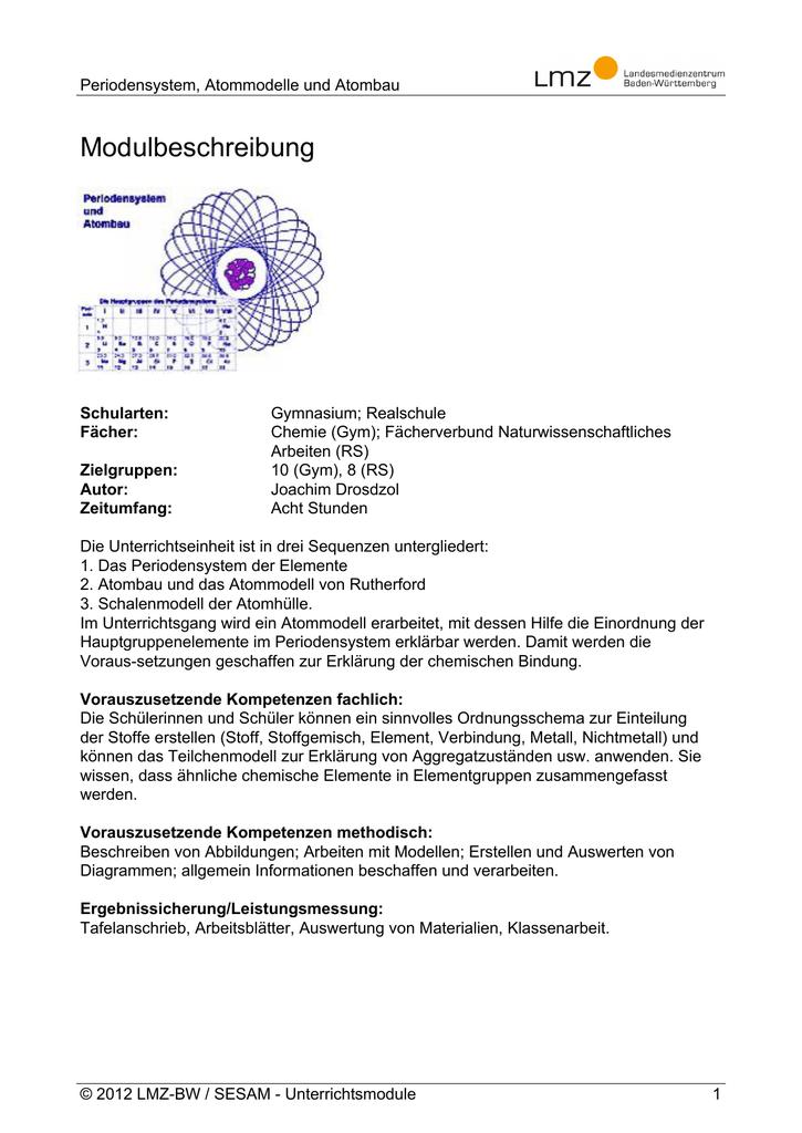 Charmant Chemie Ordnungszahl Und Massenzahl Arbeitsblatt Antworten ...