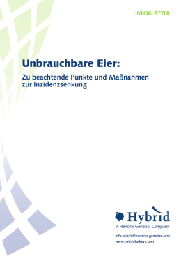 Unbrauchbare Eier - Hybrid Turkeys Resources