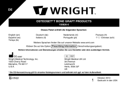 osteoset® t bone graft products de