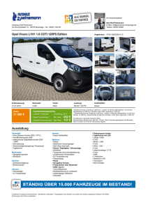 Opel Vivaro L1H1 1.6 CDTI 120PS Edition 22.110 € 258 € 140