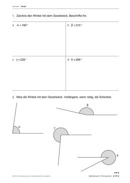 Geometrie – Inklusionsmaterial 1