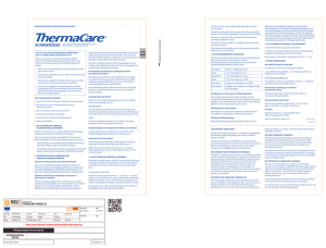 ThermaCare ® Schmerzgel - Pfizer Consumer Healthcare GmbH