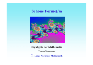 Highlights der Mathematik