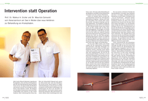 Intervention statt Operation