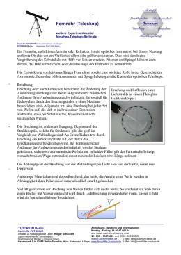 astronomisches fernrohr kepler