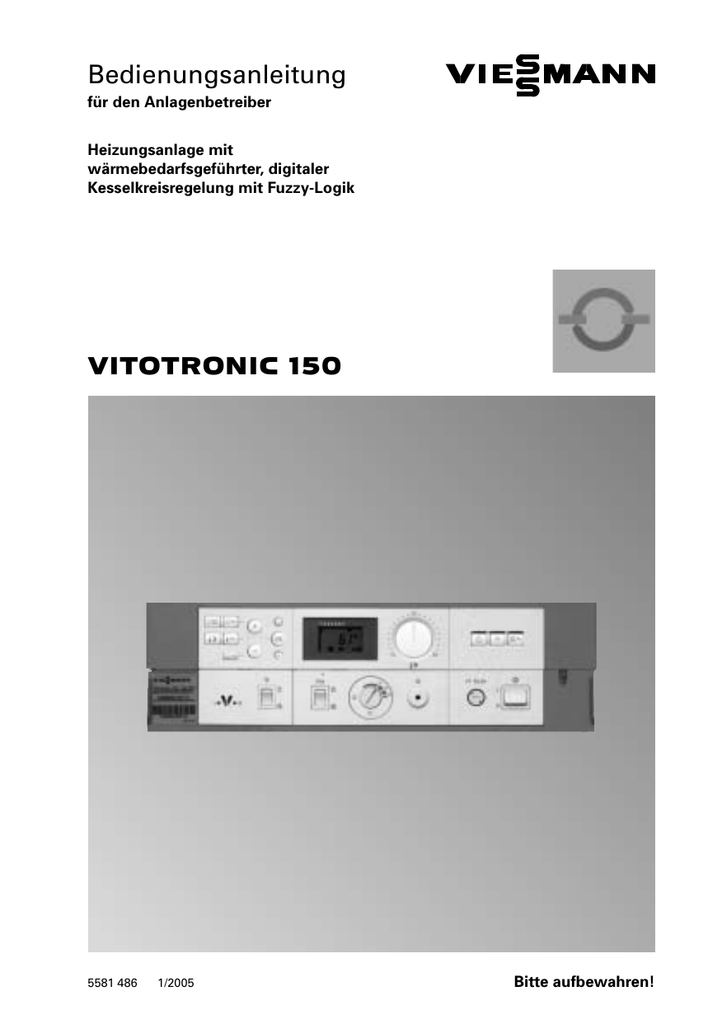 Vitotronic 150 Vitotronic 150 Bedienungsanleitung Vitotronic Bedienungsanleitung 150 k8P0ONnXw