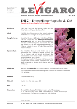 EHEC – EnteroHämorrhagische E. Coli