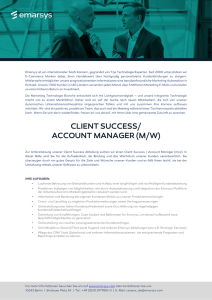 client success/ account manager (m/w)