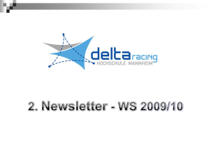 2. Newsletter Wintersemester 2009 November