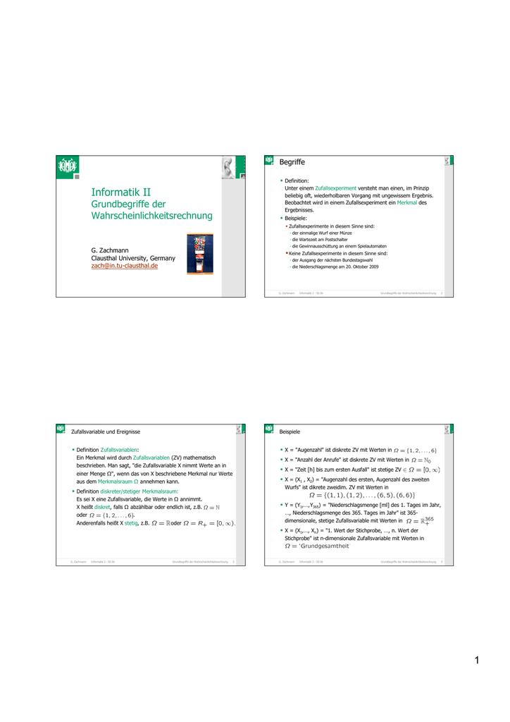 1 informatik ii - Beispiele Fur Werte