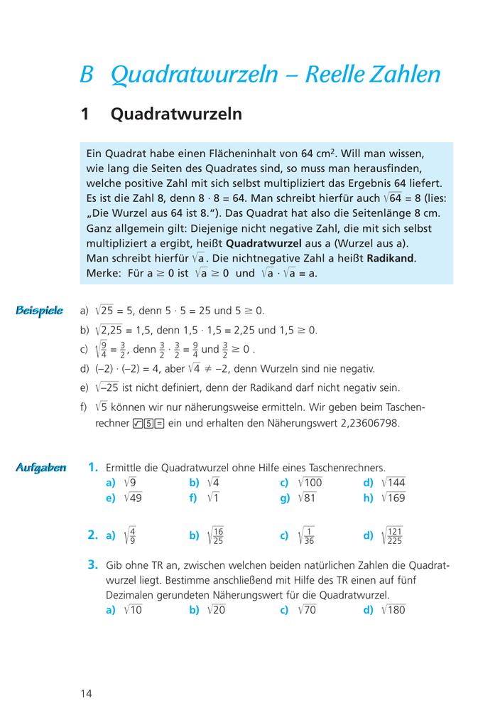 Großzügig Quadratwurzeln Und Irrationale Zahlen Arbeitsblatt ...