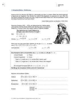 1. Übung zur Mathematik