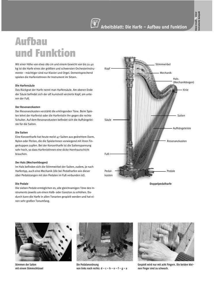 Instrumente kompakt: Harfe