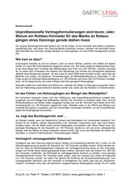 Vertrag Für Die Wohnungen 1 Bis 3