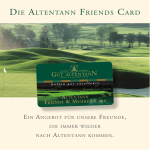 DIE ALTENTANN FRIENDS CARD .