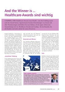 And the Winner is … Healthcare-Awards sind wichtig