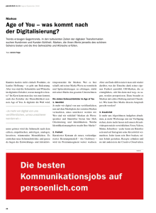 Age of You – was kommt nach der Digitalisierung?