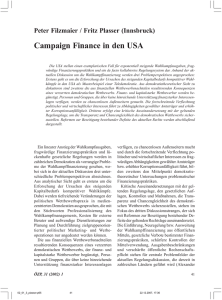 Campaign Finance in den USA