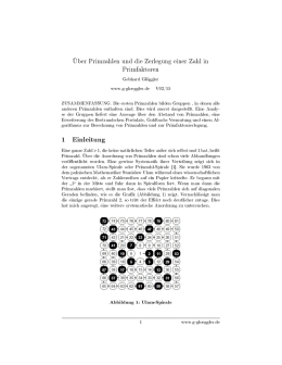 1 Einleitung - Primes and an Algorithm for Prime Factorization
