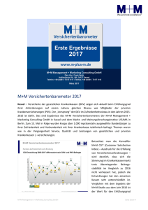 M+M Versichertenbarometer 2017 - M+M Management + Marketing