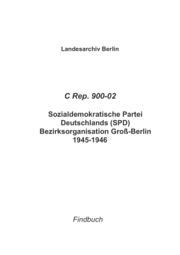 C Rep. 900-02 - Landesarchiv Berlin