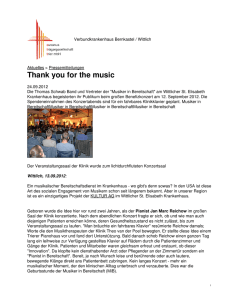 Verbundkrankenhaus Bernkastel / Wittlich: Thank you for the music