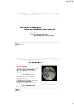 Wo ist der Mond ? - Institute for Computers in Education