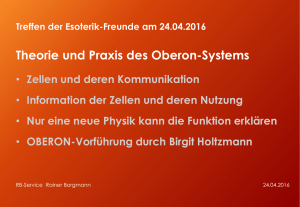 OBERON Präsentation am 24. April 2016 - Borgmann