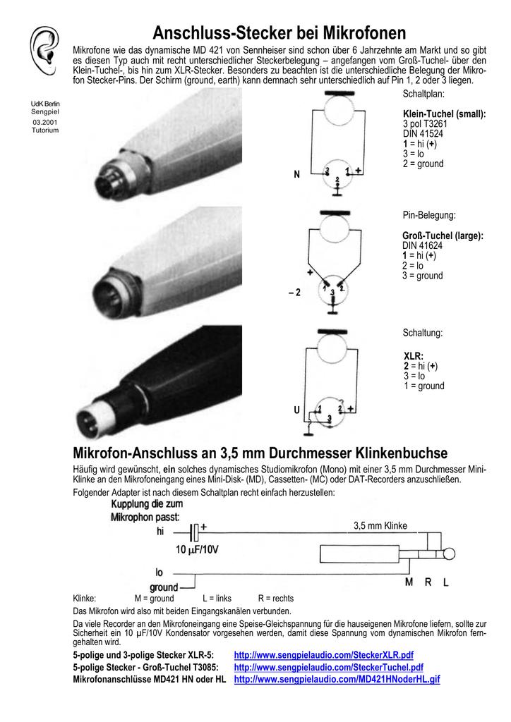 Anschluss-Stecker bei Mikrofonen