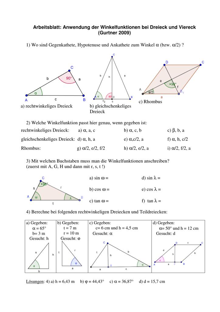 Ungewöhnlich Dreieck Winkel Arbeitsblatt Ideen - Mathe Arbeitsblatt ...
