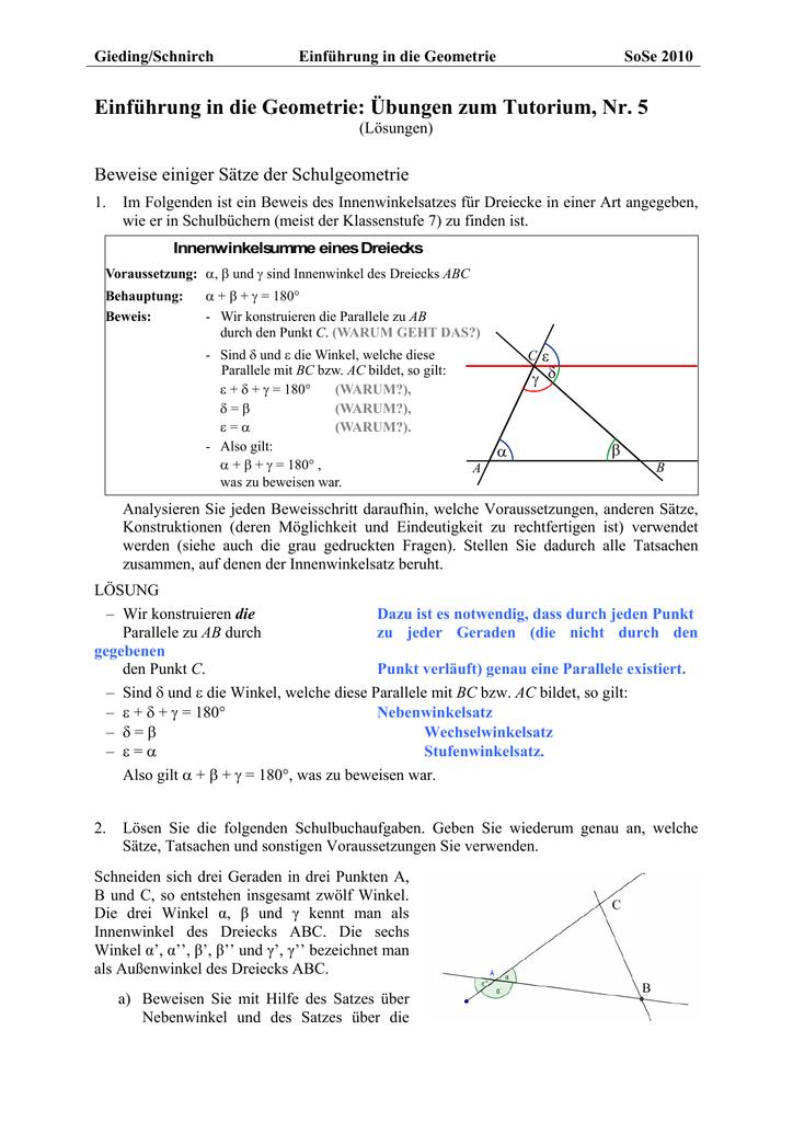 Atemberaubend Dreieck Summe Arbeitsblatt Zeitgenössisch - Super ...