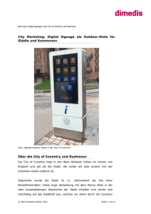 City Marketing: Digital Signage als Outdoor