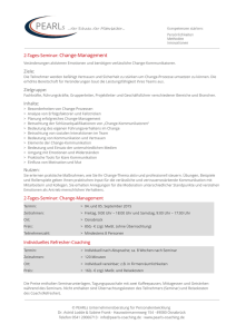 2-Tages-Seminar: Change-Management Ziele