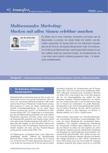 Multisensuales Marketing: Marken mit allen