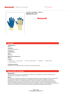 ARACUT® LAT - Honeywell Safety Products